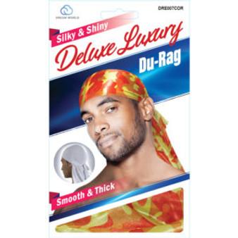 Dream Du-Rag Deluxe Smooth & Thick  - CAMO ORANGE
