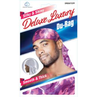 Dream Du-Rag Deluxe Smooth & Thick  - CAMO BAPE PURPLE