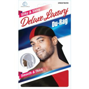 DREAM DURAG TWO TONE - BLACK RED