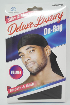 Dream Du-Rag Deluxe Smooth & Thick  - VELVET BLACK