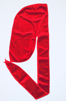 LUXURY VELVET DURAG  - RED