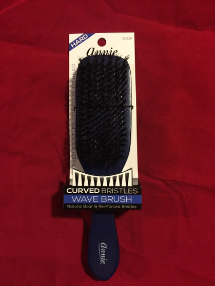 ANNIE HARD WOODEN CURVED BRISTLES WAVE BRUSH #2330 (GRAY)