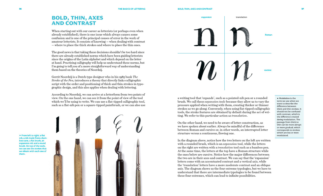 Learn the principles of letter drawing with Ivan Castro in his new book Lettering to the Max.