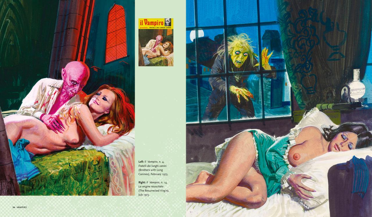 Internal spread from the book Sex and Horror: volume 4 – Il Vampiro presenta.