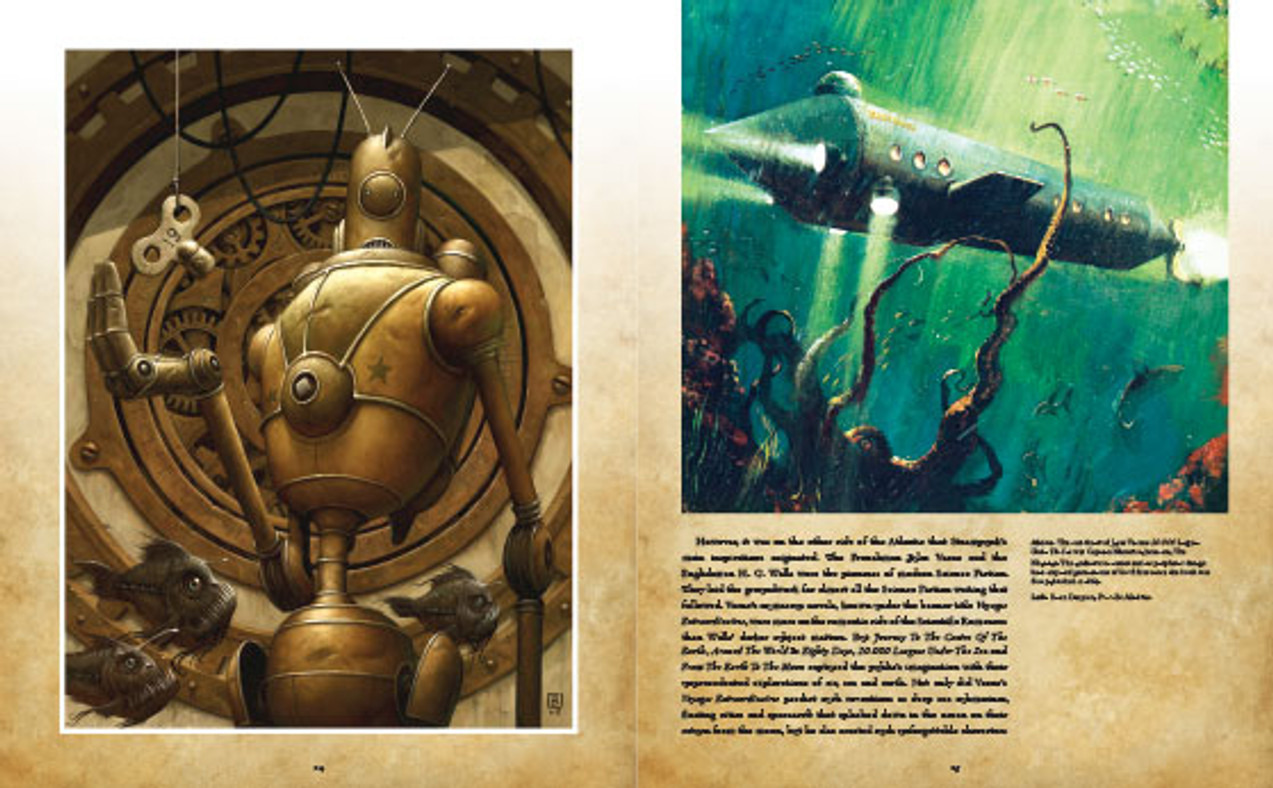 Steampunk book: The Nautilus from 20'000 Leagues Under the Sea by Jules Verne. Art by Brian Despain.