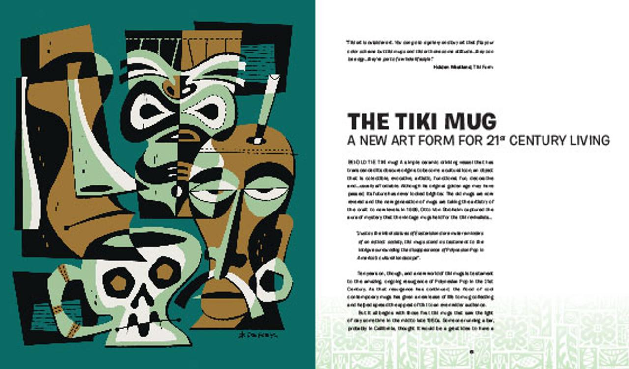 The Tiki Mug. Illustration by Derek Yaniger. Published by Korero.