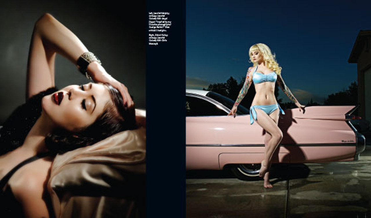 Kustom Kamera: Greased Up Eye Candy. Jennifer Murphy and Sabrina Kelly by Shannon Brooke.