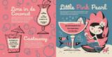 Non-alcoholic cocktails:Lime in de Coconut, Castaway, and Little Pink Pearl. Kiddie Cocktails by Derek Yaniger and Stuart Sandler.