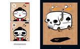 Skullface: Geisha and Death's Boogie Van by Dan Springer. Skull artwork.