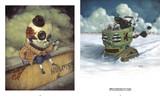 Skullface: Homie Dumpty and Evil Penguin by Johnny Crap. Skull artwork.