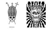 Skullface: Pope and One Eye by Mike Giant. Skull artwork.