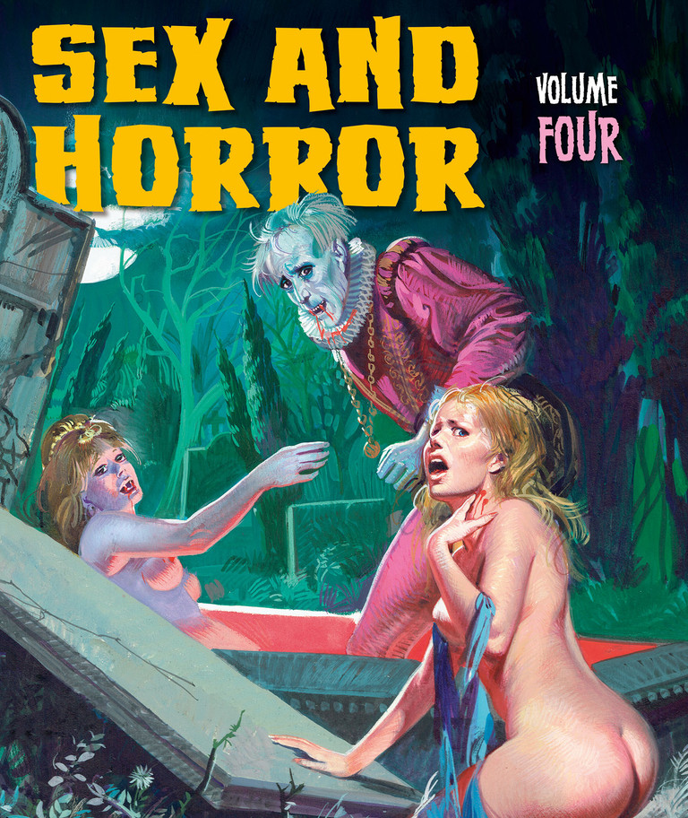 """The cover for Sex and Horror: Volume 4, part of the  bestselling Sex and Horror series, which celebrates the '60s and '70s publishing phenomenon called """"fumetti sexy"""": Italian adult comics with a unique take on such genres as horror, crime, fantasy, history and fairy tales."""