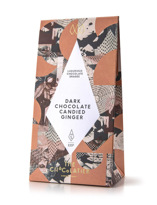 Dark Chocolate Candied Ginger 125g