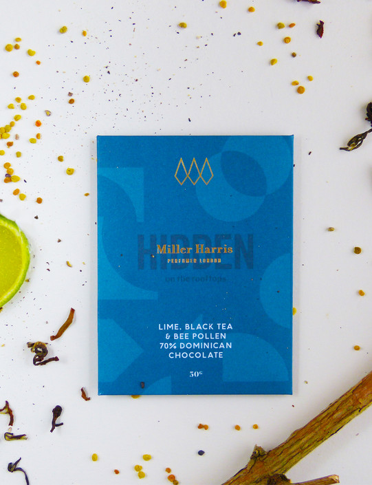 Lime, Black Tea & Bee Pollen 70% Dominican Chocolate Bar 50g