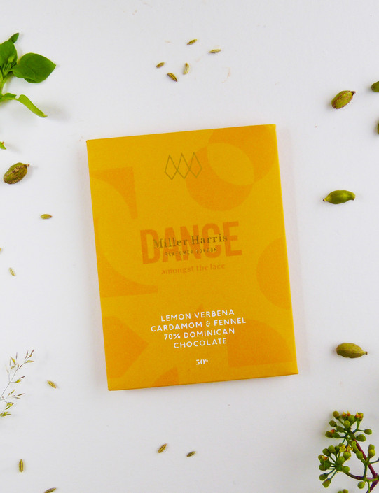 Lemon Verbena, Cardamom & Fennel 70% Dominican Chocolate Bar 50g