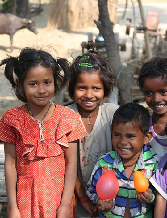 Donation to the children of India