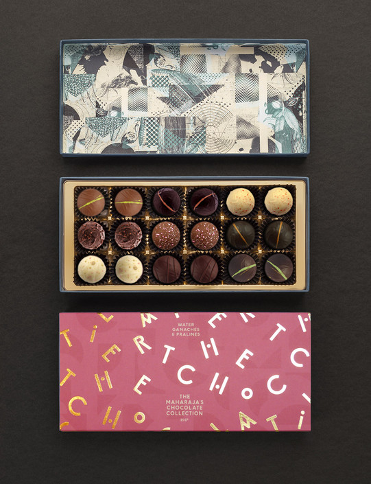The Maharaja's Chocolate Collection - 18 Dark, Milk and White Chocolates