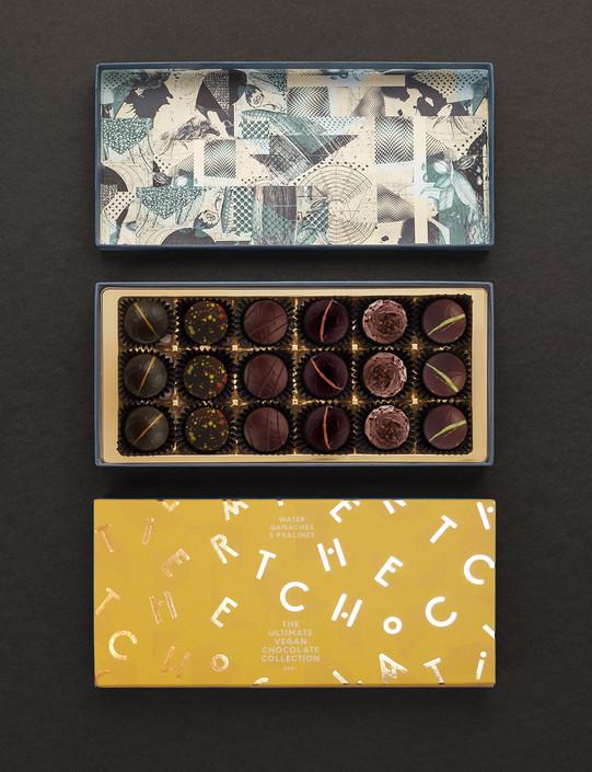 The Ultimate Vegan Chocolate Collection - 18 Dark and Mylk Chocolates