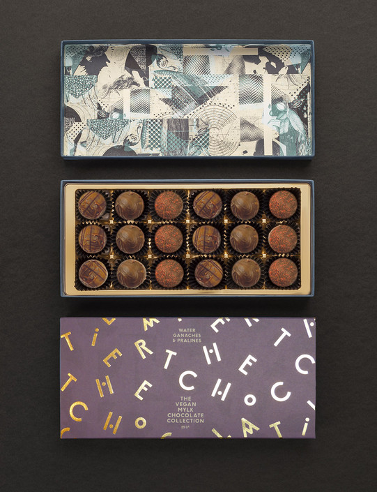The Vegan Mylk Chocolate Collection - 18 Mylk Chocolates
