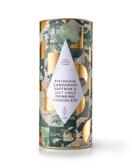 23ct Gold, Saffron, Cardamom & Pistachio Drinking Chocolate