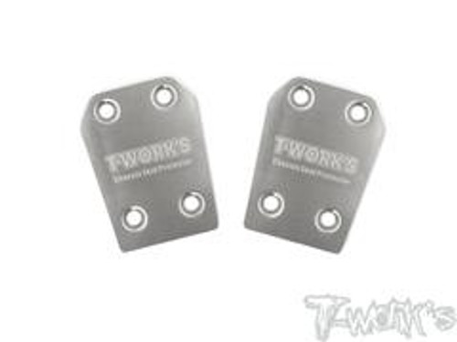 T-Works TO-220-K - Stainless Steel Chassis Skid Protector (for Kyosho MP9/10) - Rear