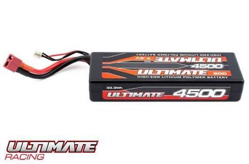 UR4423 Ultimate 7.4V. 4500 Mah 60C Lipo Battery Stick Pack LW W/ deans