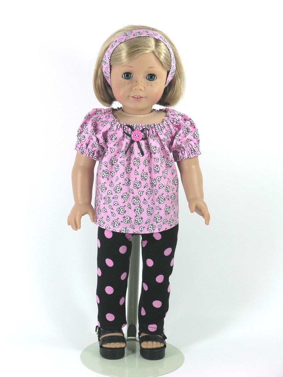 "homemade 18/"" american girl//madame alexander 2 piece LEA dress doll clothes"
