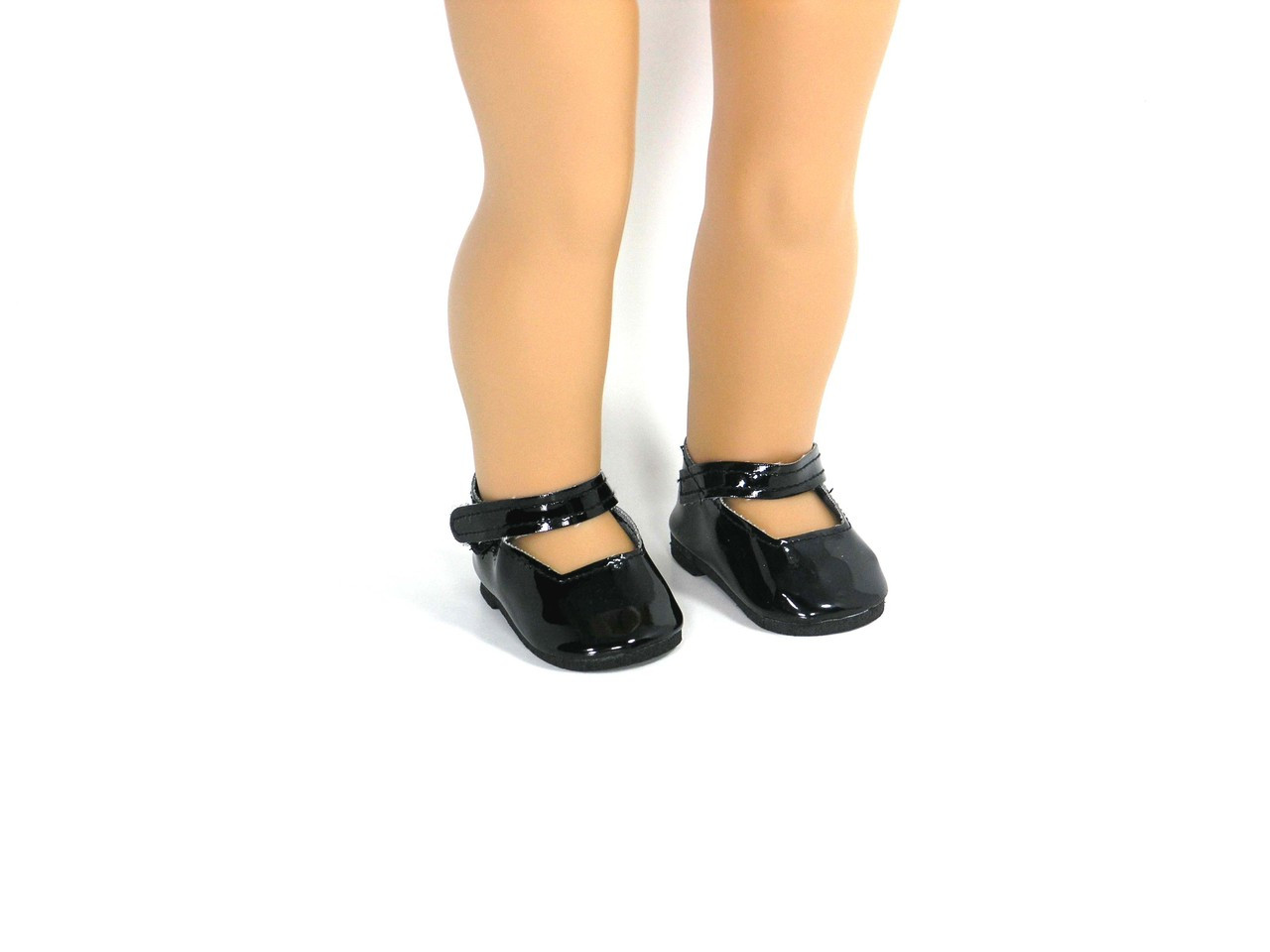 5607976753f51 Black Patent 18 inch Shoes for American Girl - Mary Jane Style