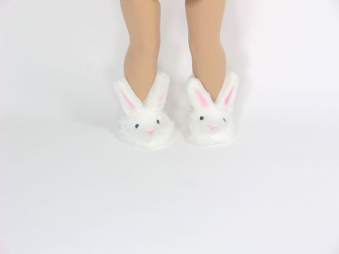 """15/"""" Doll Pink Bunny Slippers fits 15/"""" Dolls Pink Bunny Slippers"""