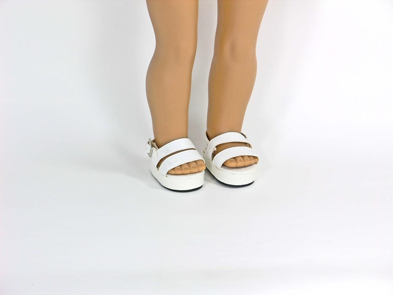 1d98fbec9f6ca White Platform Doll Sandals for 18 inch American Girl, Madame Alexander