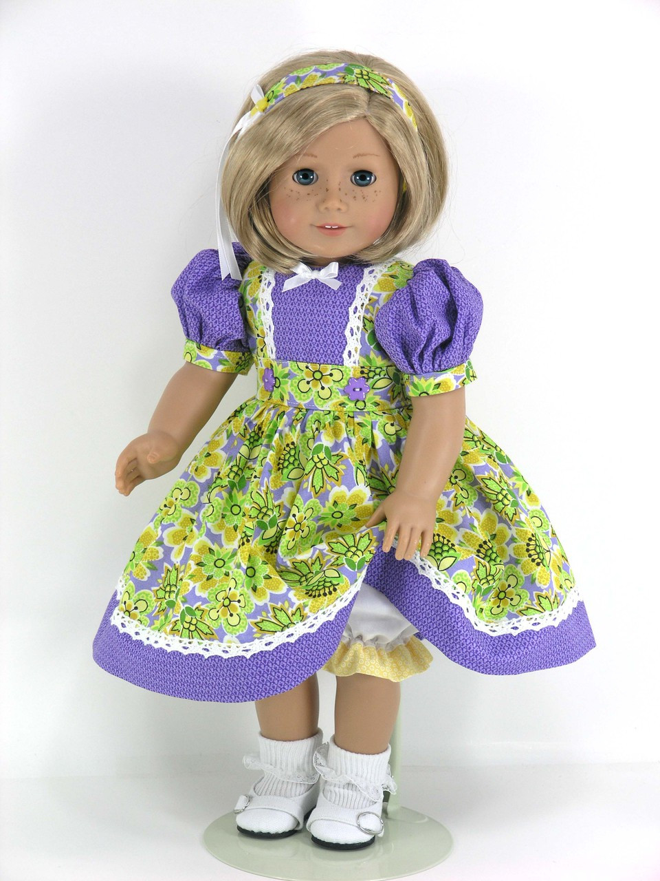 18 Inch doll Clothes LAVENDER SATIN SUN DRESS Made For American Girl Dolls