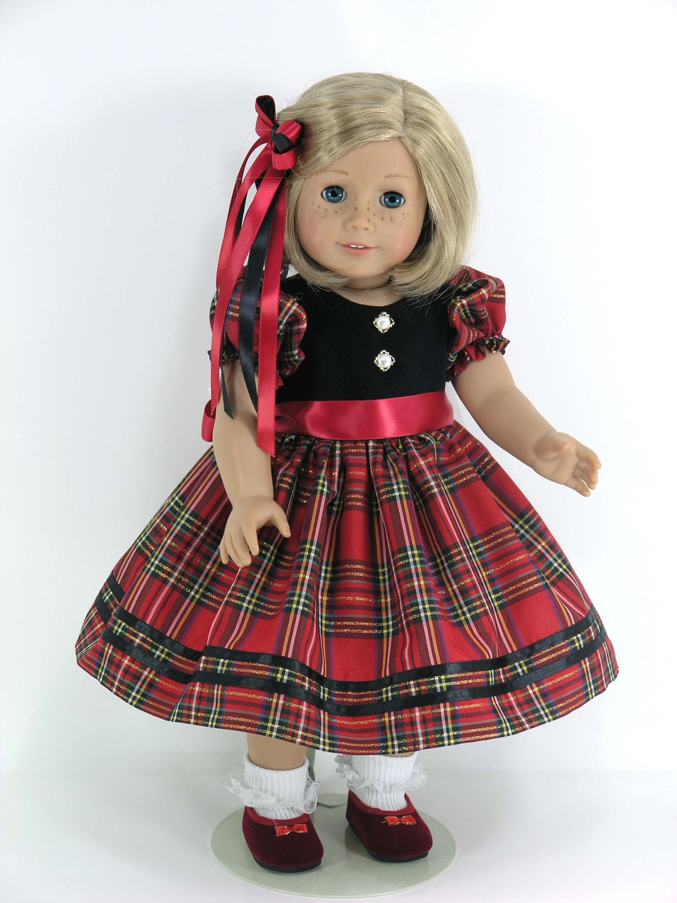 ab33c2b46 Clothes for American Girl Doll - Christmas Dress