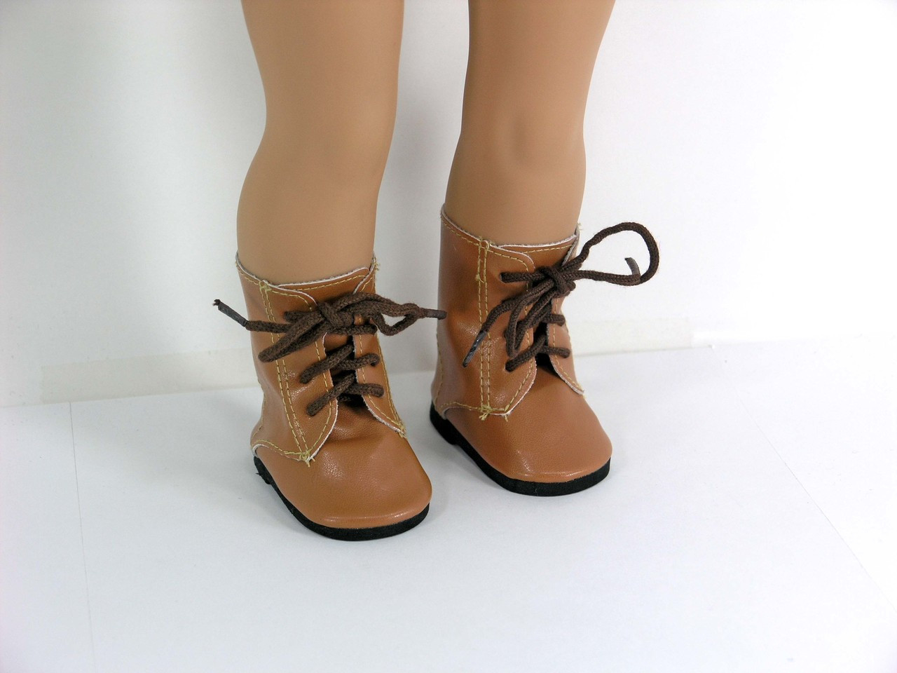 Tan Suede boots  Fits 18 inch American Girl Dolls
