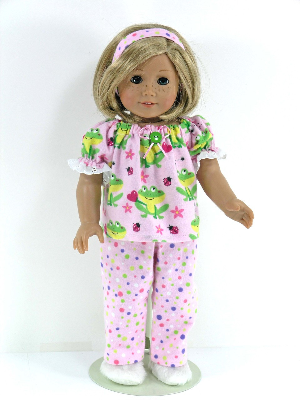 Flannel pajamas to fit 18 girl doll