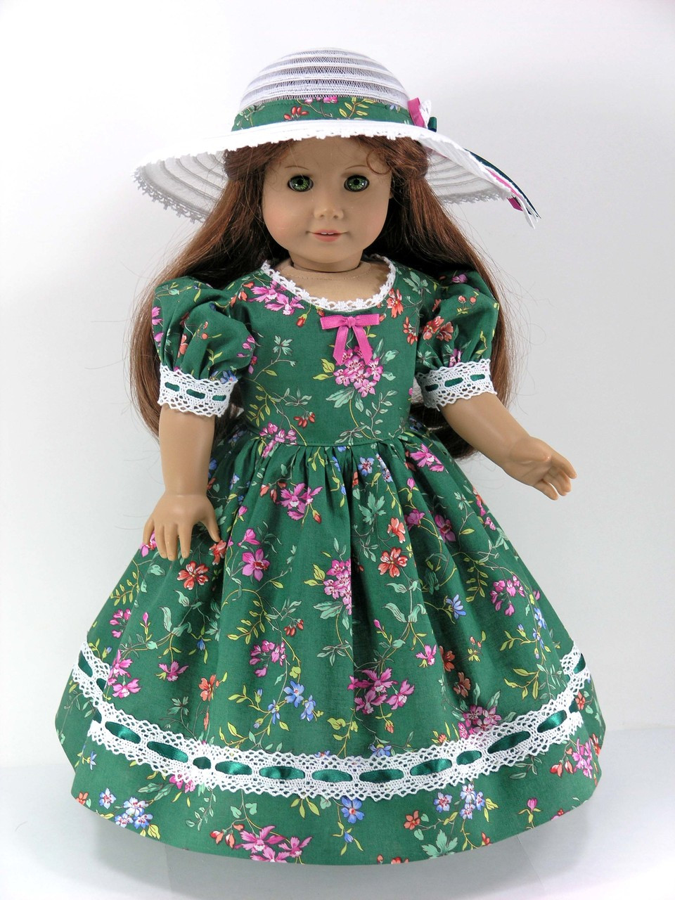 12624b3e08b6 18 inch Historical Doll Clothes Handmade for American Girl - Dress ...
