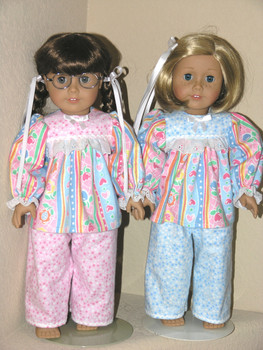 6dea17a76 Sleepwear, Pajamas for American Doll - Exclusively Linda Doll Clothes