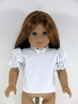 3ca7e6fe5f7ed Handmade 18 inch Doll Blouse, Shirt with Eyelet for American Girl - White