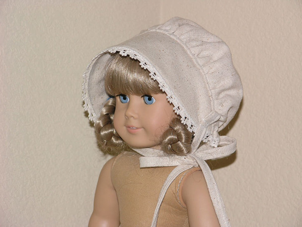 Osnaburg Muslin BONNET fits 18 inch American Girl Doll