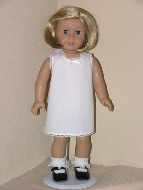 Handmade for 18 inch  American Girl Doll - White Slip with Lace