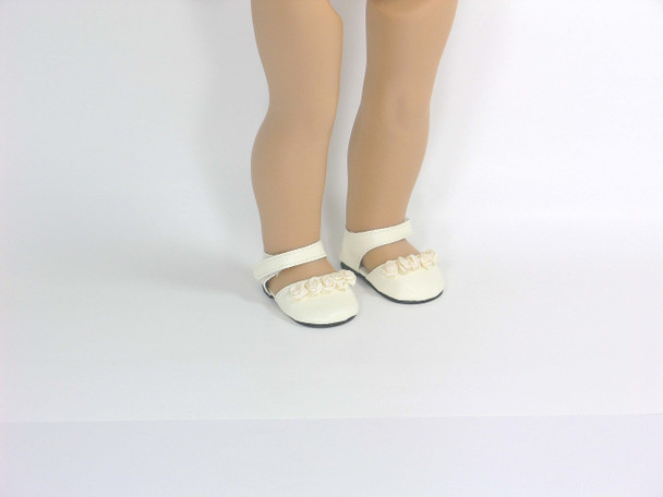 ivory doll shoes