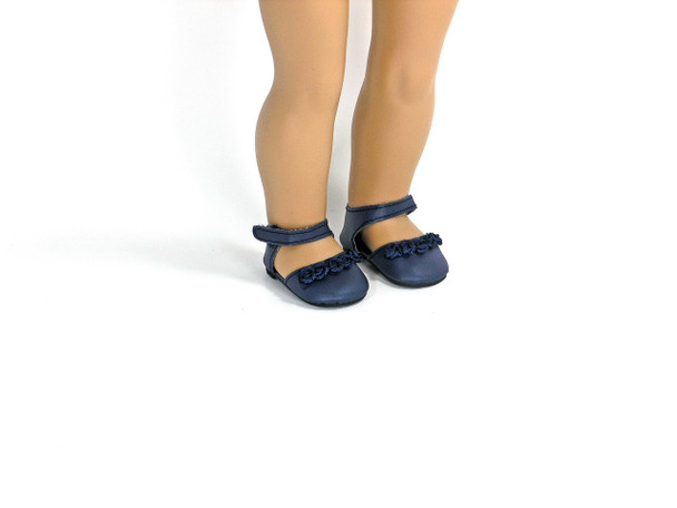 navy doll shoes