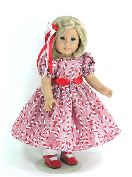 Christmas doll dress