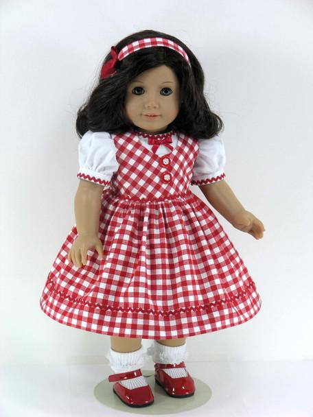 Handmade American doll jumper