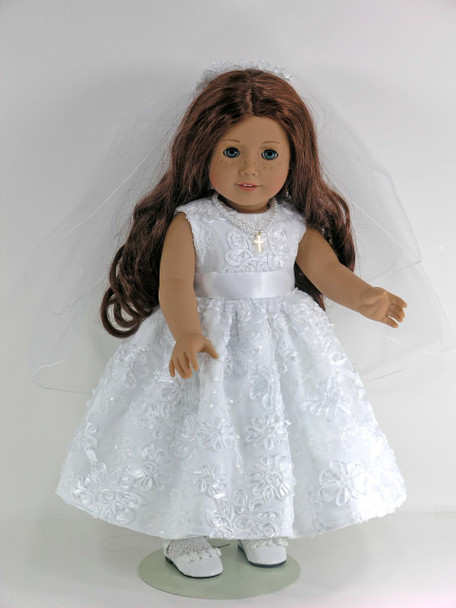 Holy Communion doll dress
