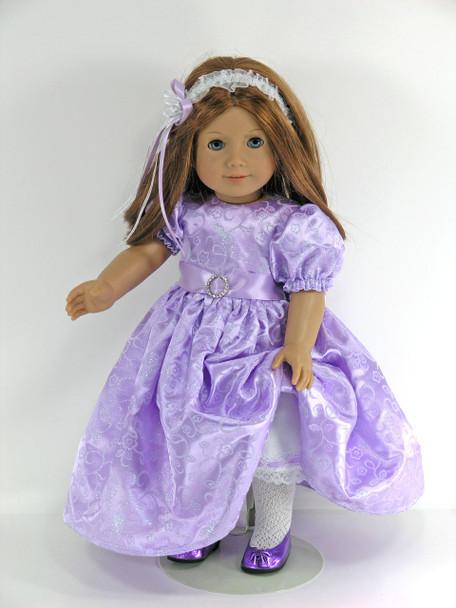 handmade 18 inch satin dress