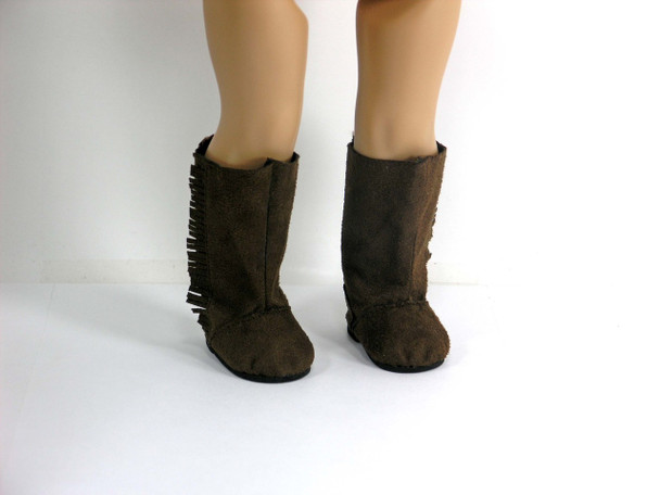 Brown boots for American Doll