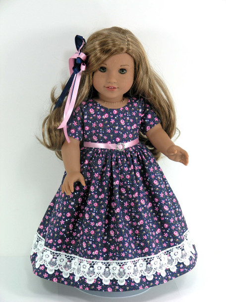 Handmade historical doll dress