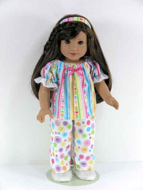 Flannel American Doll PJs