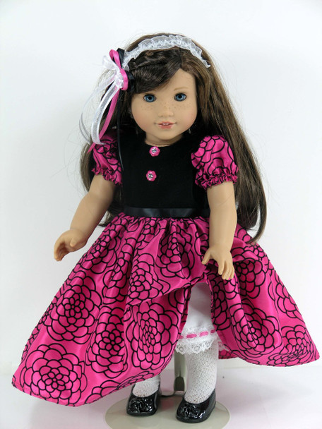 Handmade Taffeta American Doll Dress