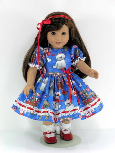 July 4 Handmade Doll Dress